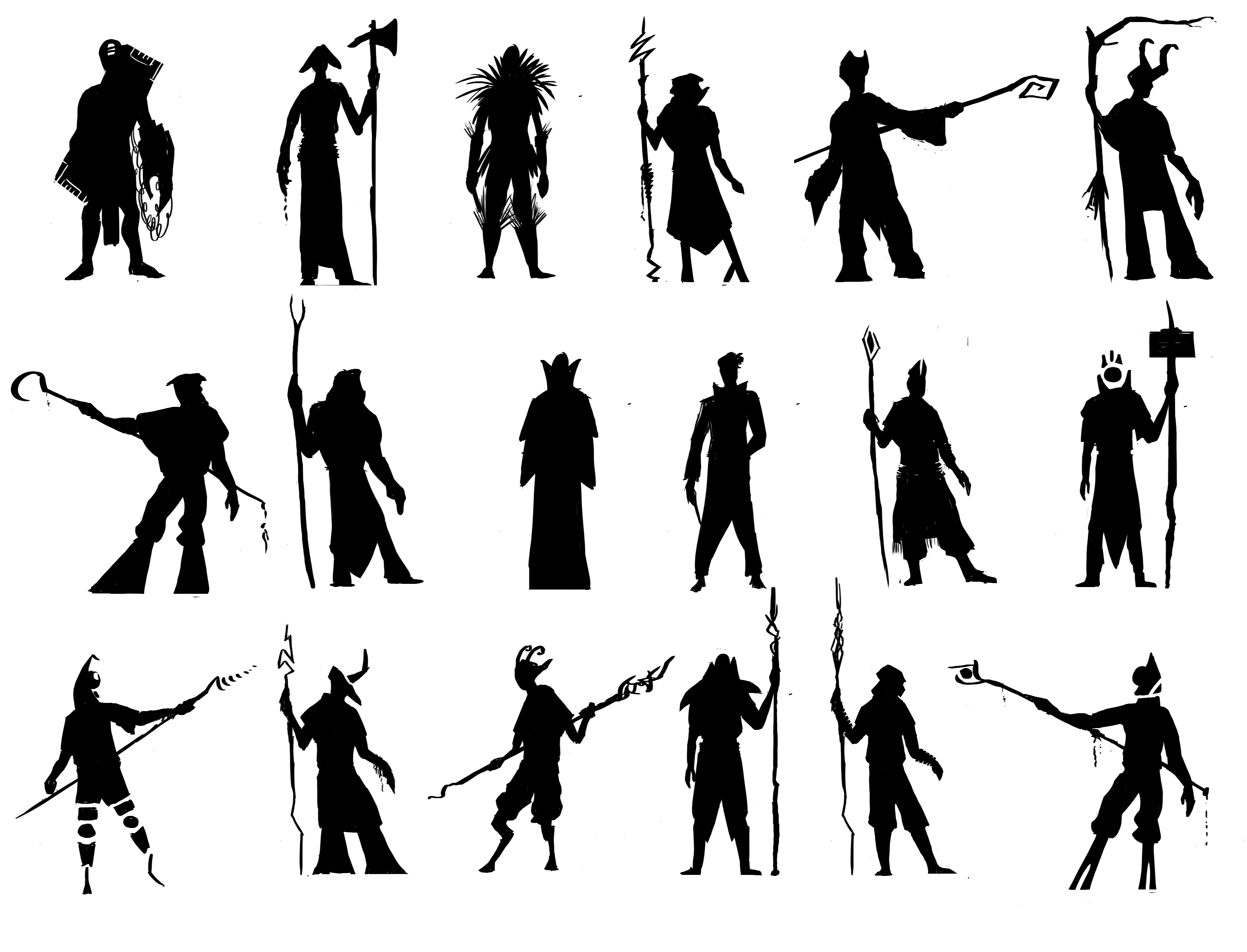 "mage silhouettes"" Stock image and royalty-free vector files on ..."